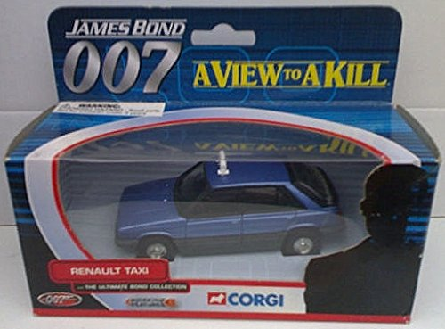 James Bond 007 A View to a Kill Renault Taxi 1/36th Scale Die Cast Car (Corgi's Ultimate Bond Collection) ()