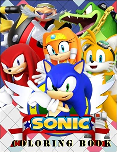 Sonic Coloring Book: All Your Favorite Sonic Characters.: Green Bob ...