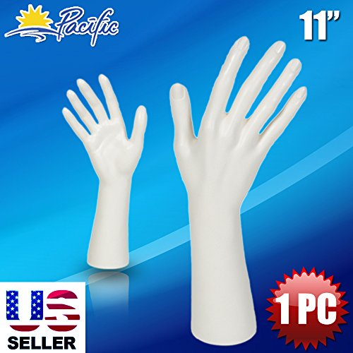A1 Pacific Inc. Female Mannequin Hand Display Jewelry Bracelet ring glove Stand holder white