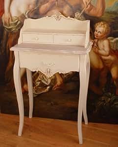 Escritorio, escritorio, mesa auxiliar, mesa, mesa de estilo shabby-chic-estilo en aspecto de madera vespielter - Palazzo Exclusive