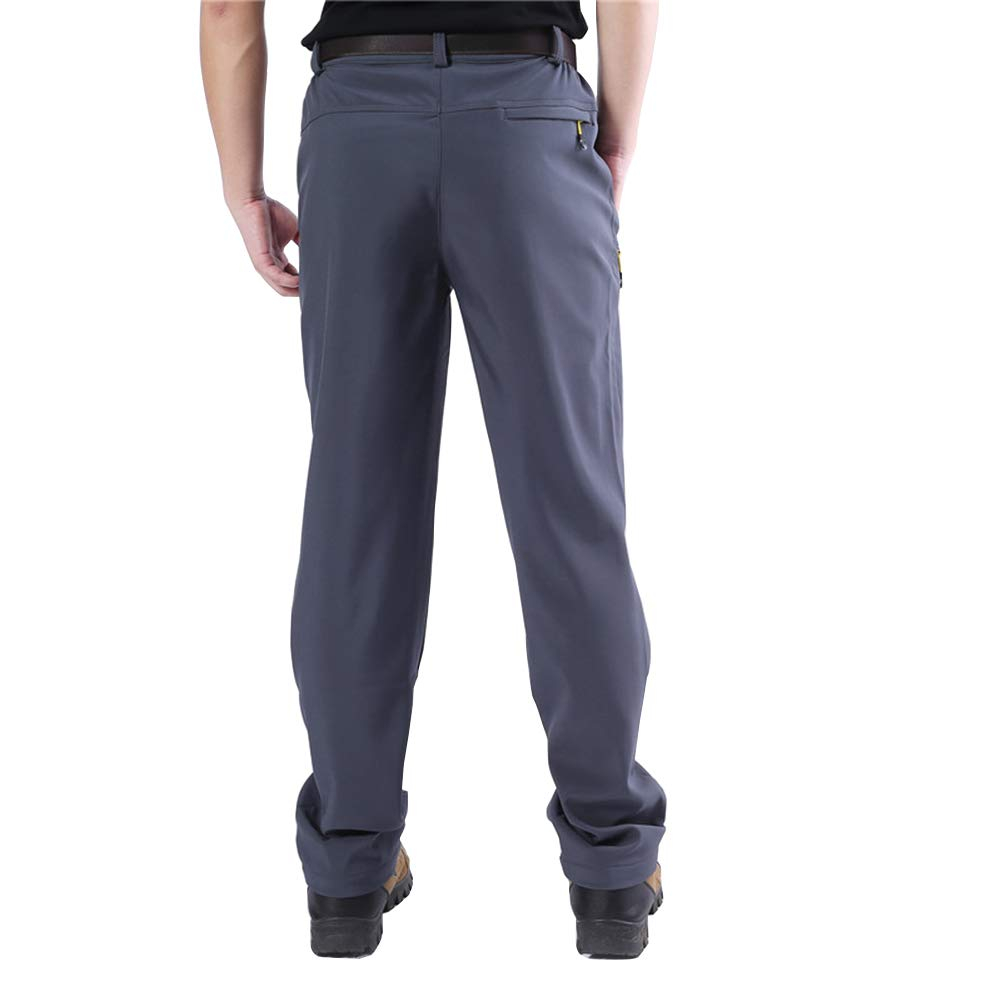 YSENTO Mens Outdoor Water Resistant Fleece Lined Hiking Skiing Snow Pants