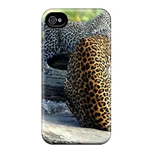 Durable Case For The Iphone 4/4s- Eco-friendly Retail Packaging(mother Leopard)