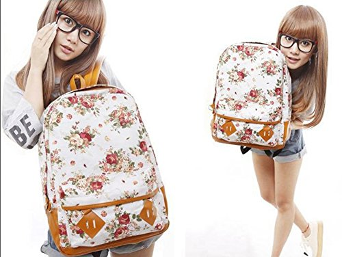 Xoxo Hobo Handbag - Floral Printed Canvas Backpack College New Fashion Girls' School Bag Flowers Women Rucksack