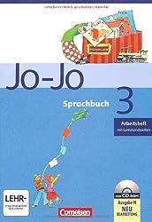 Jo-Jo Sprachbuch - Ausgabe N: 3. Schuljahr - Arbeitsheft: Mit CD-ROM und Lernstandsseiten