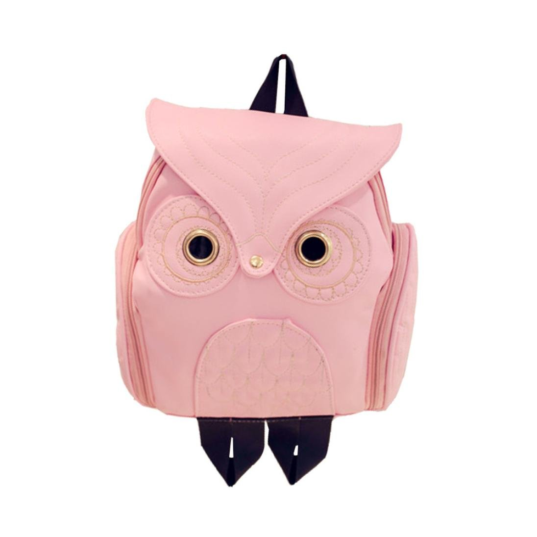 Women Girls Cute Cartoon Owl Shape Backpack School Travel Bags