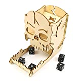 DIY Wooden Skull Dice Tower Halloween Gambling Skull Skeleton Board Game Death Sieve Tower Skull Dice Tower