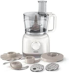 Philips HR7627/02 - Procesador de alimentos (650 W, recipiente de 2,1 L) daily collection, color blanco: Amazon.es: Hogar