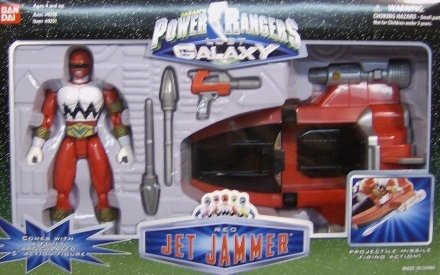 Galaxy Power Rangers (Power Rangers Lost Galaxy Red Jet Jammer Action Figure and Vehicle Set)