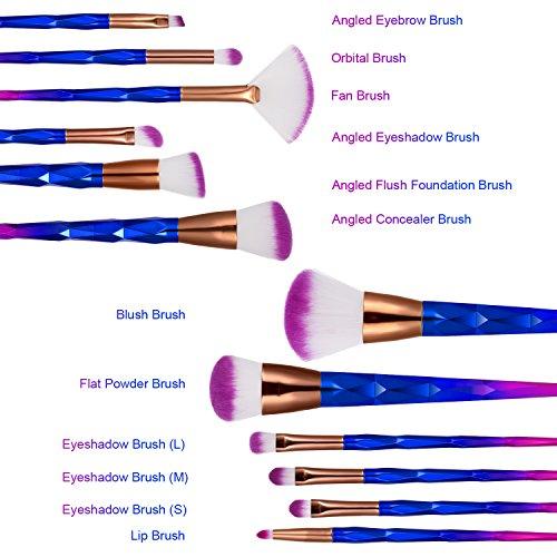 Ameauty Makeup Brushes, 12PCS Makeup Brush Set - Professional Face Eye Lip Makeup Brush - Eyeshadow Eyeliner Eyebrow Foundation Blush Concealer Blending Powder Liquid Cream Cosmetic Makeup Brush Kit