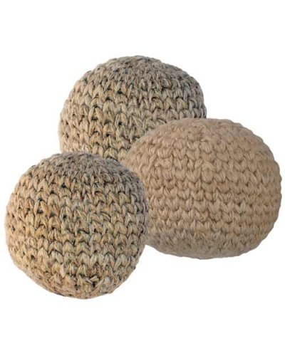 Turtle Island Imports Set of 3 Hacky Sacks - Hemp