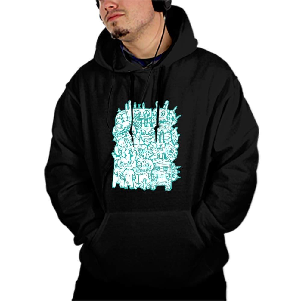 WUJIU Unisex 3D Printed Birthday Pullover Long Sleeve Fleece Hooded Sweatshirts with Pockets