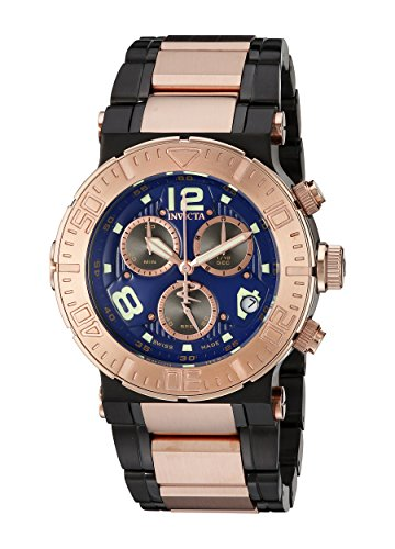 - Invicta Men's 6765 Reserve Collection Chronograph 18k Rose Gold-Plated and Black Stainless Steel Watch