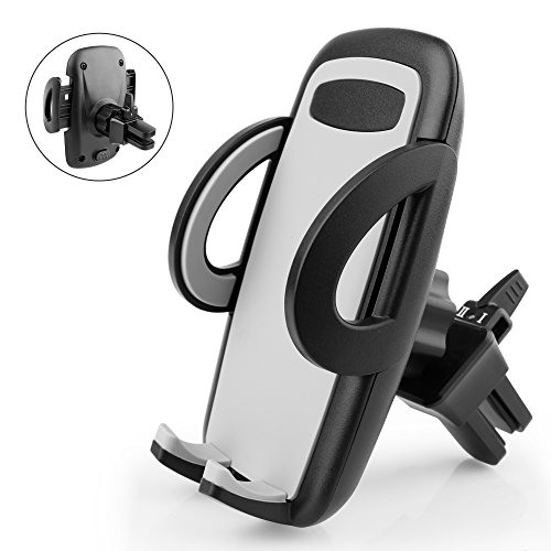 Quntis Air Vent Car Mount Holder with 360 Rotation and Release Button for Cell Phone iPhone Smartphone Android GPS Devices - Black