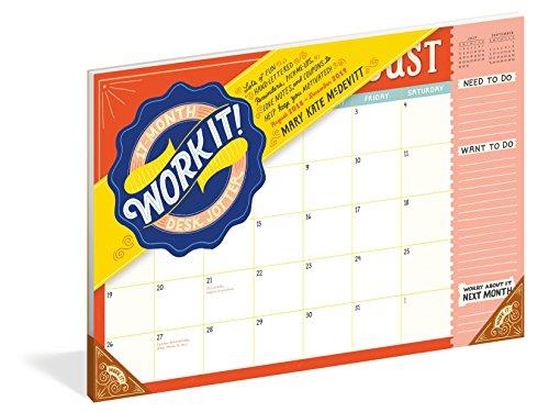 Work It! 17-Month Desk Jotter -