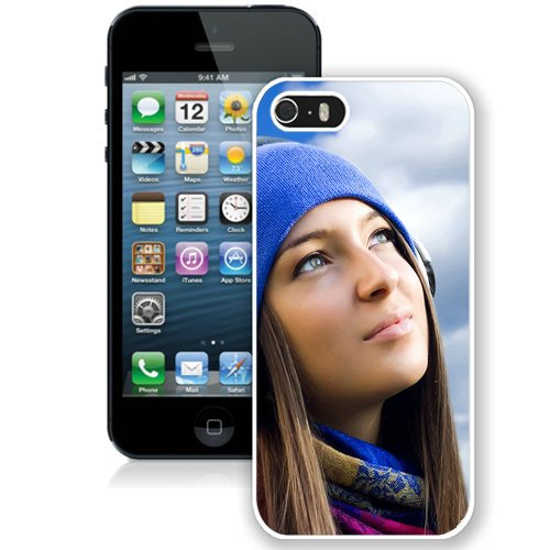 Coque,Fashion Coque iphone 5S Girl Listening To Music blanc Screen Cover Case Cover Fashion and Hot Sale Design