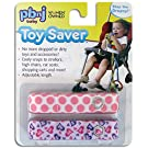 Toy Saver by PBnJ baby - Baby Toy Holder, Secure Rattles, Teethers, Toys, 2-Pack (Lil Pink Dot/Hearts)