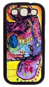 dachshund love Custom Samsung Galaxy I9300/Samsung Galaxy S3 Case Cover Polycarbonate Black