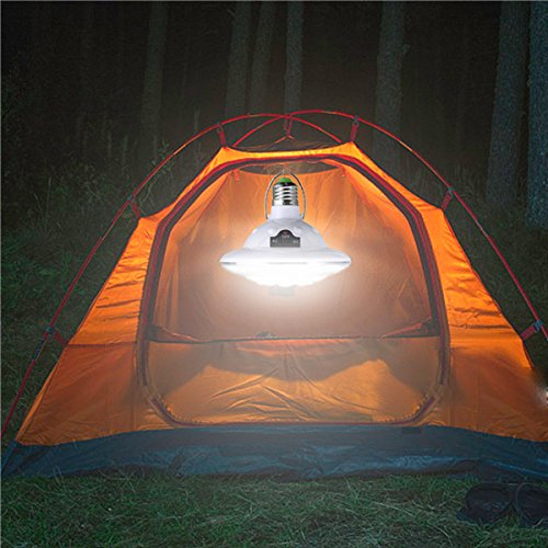 e27 Solar/Battery Powered 22led Remote Control Camping Light by QOJA