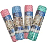 GINNI Multi-Purpose Kitchen Swipe Rolls House Holding 50 Dry Sheets, 30x25cm (Multicolour) - Pack Of 4