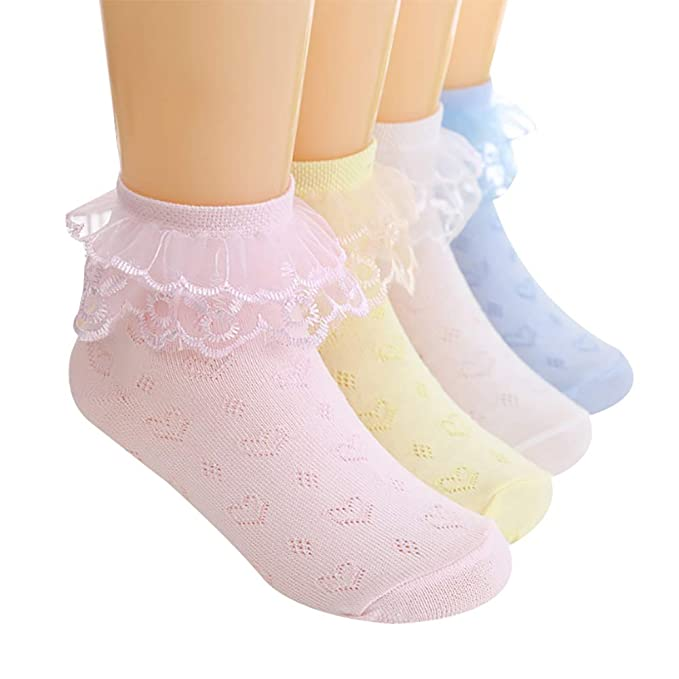 LD/_ 5 PAIRS BABY TODDLER BOY GIRL COTTON DOTS STRIPE BREATHABLE ANKLE SOCKS ST