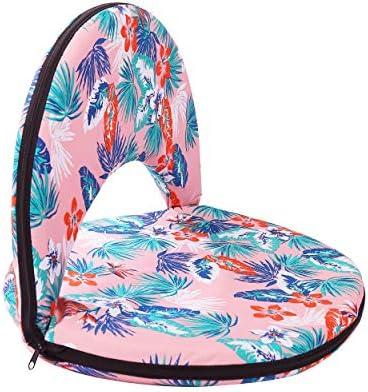 XHiro Folding Stadium Seat - 6 Position Reclining Waterproof Cushion Chair,Folding Sport Cushions Ideal for Beach, Parks, Sporting, Camping