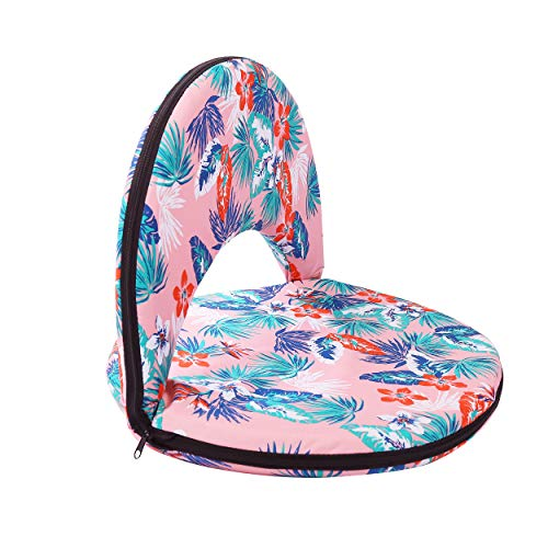 (XHiro Folding Stadium Seat - 6 Position Reclining Waterproof Cushion Chair,Folding Sport Cushions Ideal for Beach, Parks, Sporting, Camping)