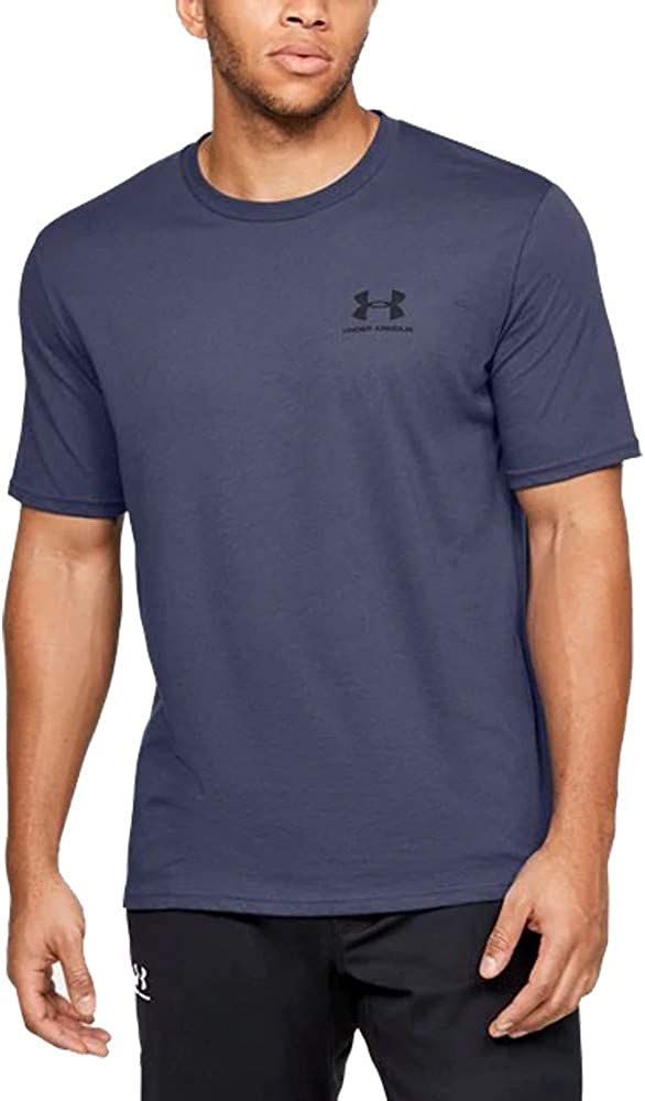 Under Armour Men's Sportstyle Left Chest Short Sleeve T-Shirt , Blue Ink (497)/Black , Small