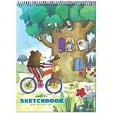 eeBoo Bear on Bicycle Sketchbook