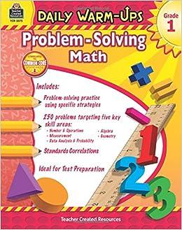 Amazon.com: Daily Warm-Ups: Problem Solving Math Grade 1 ...