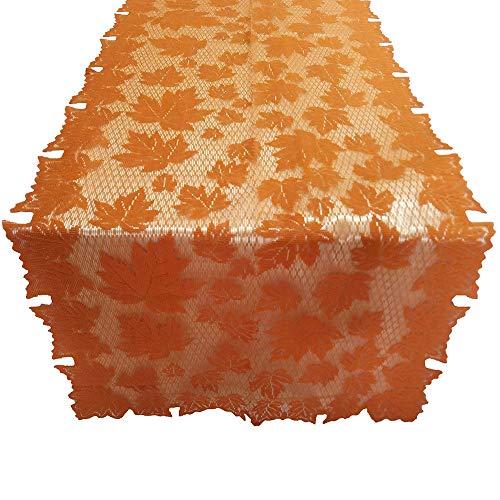 Clearance Sale!UMFun Pumpkin Lace Fireplace Cloth Pumpkin Maple Leaf Fall Spice Thanksgiving Cloth 152x213cm (C)