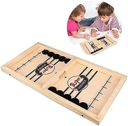 XSBBY Sling Puck Game, Juguetes De Juegos De Mesa De Ritmo Rápido, Home Party Game Toys, para Niños Adultos(56 * 30 * 3.2cm): Amazon.es: Hogar