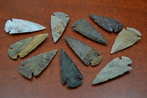 (10 Pcs Assort Agate Stone Spearhead Arrowhead Point 2