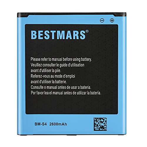 Bestmars Samsung Galaxy S4 2600 mAh Li-Ion Battery for Galaxy S4 I9500, I9505 LTE,I545 (Verizon),M919 (Tmobile), I337 (AT&T), L720 (Sprint) Spare Replacment Battery for S4 (NFC/Google Wallet Capable)