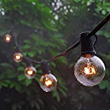 Electro bp Waterproof Outdoor/Indoor String Lights with Bulbs UL Listed Decorate for Wedding Front Yard Backyard Tents Cafe Party Bistro Tents Market Gazebo Porch Letters,Black