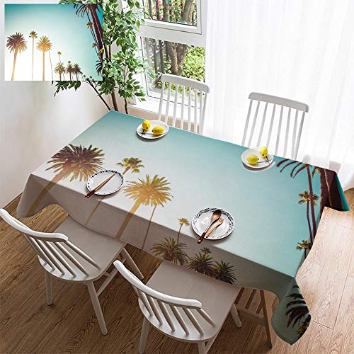 HOOMORE Simple Color Cotton Linen Tablecloth,Washable, California Beverly Hills Luxury Lifestyle Decorating Restaurant - Kitchen School Coffee Shop Rectangular ()