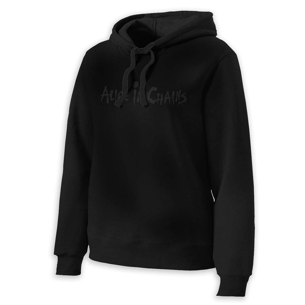 Alice in Chains Women's Long Sleeve Hooded Sweatshirts Pullover Hoodies Black