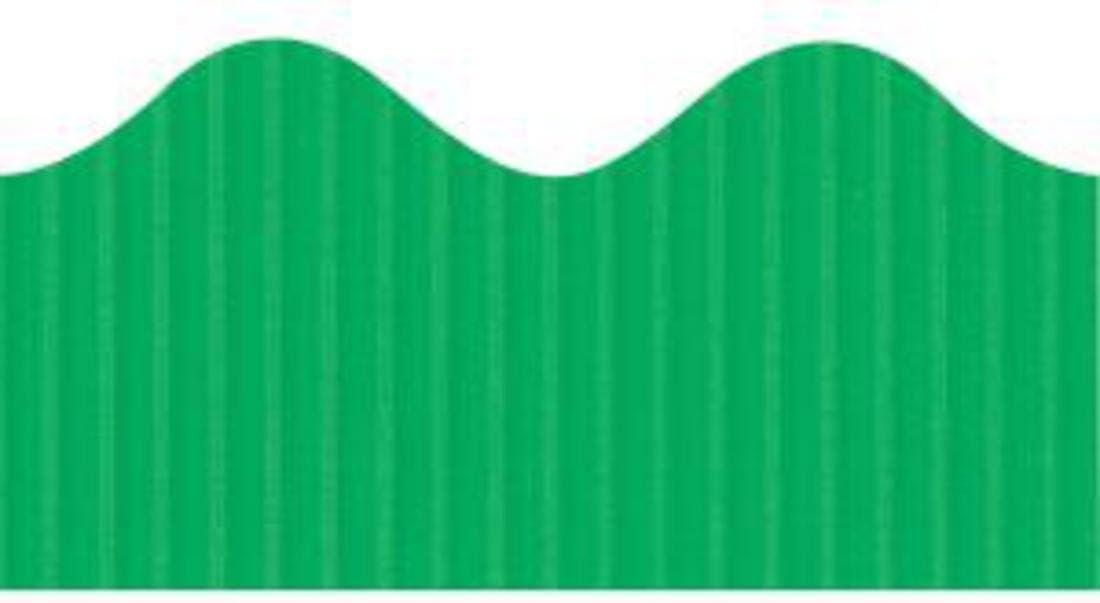 Scalloped Bordette Decorative Classroom Border Color: Apple Green