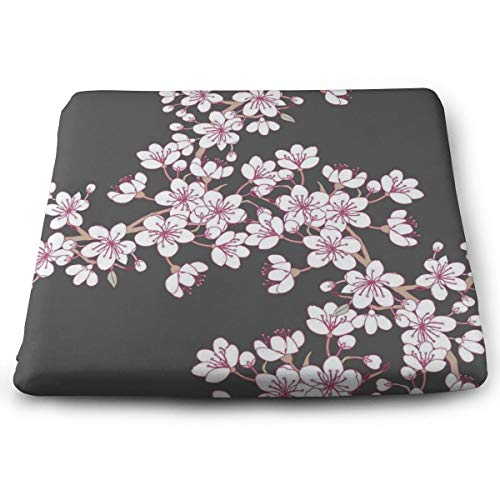 Cherry Blossom Orthopedic Memory Foam Seat Cushion - Helps with Sciatica Back Pain - Perfect for Your Office Chair and Sitting On The Floor Gives Relief from Tailbone Pain