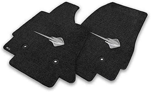 2014-2016 C7 Corvette Jet Black Floor Mats Stingray Logos