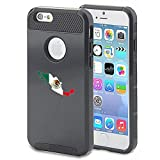 Apple iPhone 5 5s Shockproof Impact Hard Case Cover Mexico Mexican Flag (Black )