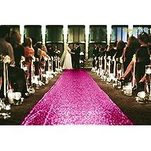 ShinyBeauty 4FTX15FT-Wedding Aisle Runner-Grey,Glitter Carpert Runner,Sequin Aisles Floor Runner,Wedding Ceremony Decor
