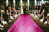 ShinyBeauty 4FTX15FT-Sequin Aisle Runner-Fuchsia Sparkly Carpet Runner for Wedding/Christmas/Thanksgiving Decor