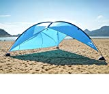 Oileus Super Big Canopy Tent with Sand Bags - Easy up Beach Tent Sun Shelter and Lightweight Sun Shade Tarp for Camping Family Picnic, Waterproof and Windproof, Blue, 16 × 16Ft