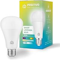Smart Lâmpada Wi-Fi RGB+ Positivo Casa Inteligente, branco quente e frio, cores mais vibrantes, 1.000 Lúmens, RGB, LED…