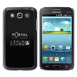 KLONGSHOP // Cubierta de piel con cierre a presión Shell trasero duro de goma Protección Caso - Portal - Samsung Galaxy Win I8550 //