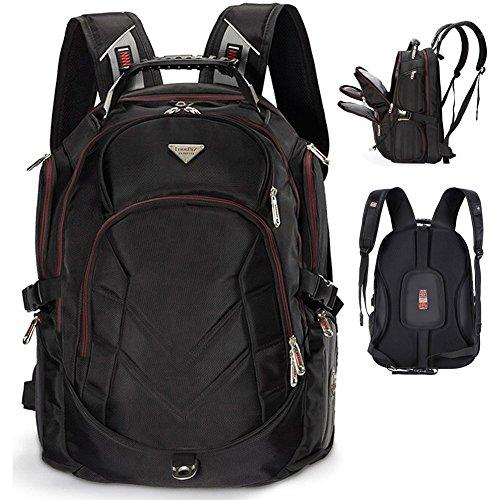 FreeBiz 18,4 Zoll Notebooktasche Laptop-Tasche Rücksack Passend für bis zu 18-Zoll-Gaming Laptops für Dell, Asus, MSI (Schwarz)