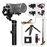 FeiyuTech G6 Plus 3-Axis Handheld Stabilizer Gimbal for Canon Mirrorless Cameras, GoPro Hero 6 5 4 Action Cameras, iPhone Samsung Huawei Smartphones, Max Load 800g, w/Phone Clip, Extension Clip