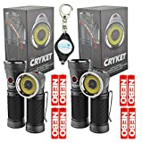 2X Nebo Cryket 6437 LED Work Light Spot Light Red LED Swivel Head with Lumintrail Keychain Light