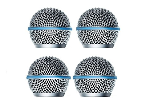 Polyaudio 4 PCS Microphone Head Ball microfoon Grill for Beta 58 microphone Grille replacement