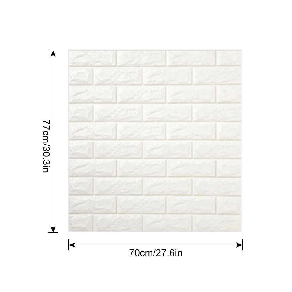 3D Brick Wall Stickers, FOME PE Foam 3D Brick Wall Tile Easy Self-Adhesive Design Wall Paper Wall Tile Stickers 3D Decorative Soft Panels for Kitchen/Bathroom/Living Room/Bedroom Decor 30.3x27.6 inch by FOME (Image #6)